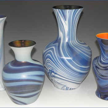 Imperial Lead Lustre Vases - Imperial Glass Company, Bellaire, Ohio, 1925-26 - Art Glass