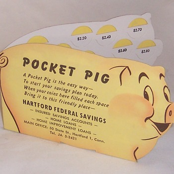 Vintage Piggy Banks - Coin Operated