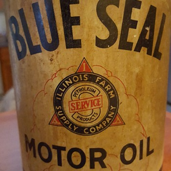 Blue Seal Motor Oil can - Petroliana