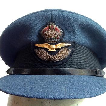 RAF officer's hat, ca. 1943.
