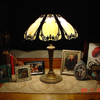 Miller Lamp Company...Eight Slag Glass Panels...Signed And Number 242
