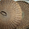 Maine Sweetgrass Basket With Bentwood Rim