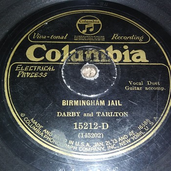 Way Back Wednesdays...Darby And Tarlton...On 78 RPM Shellac - Records