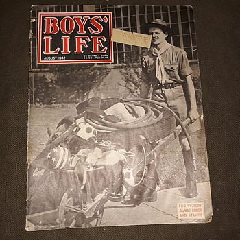 Saturday Evening Scout Post Boys Life Magazine August 1942 - Military and Wartime