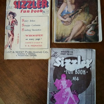 Risque magazines from Dad's WWII shoe box - Paper