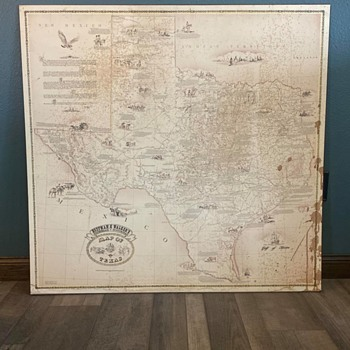 Hoffman and Walker Map of Texas - Paper