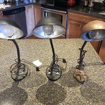 Vintage Eagle & Leviton Gooseneck Desk Lamps - Lamps
