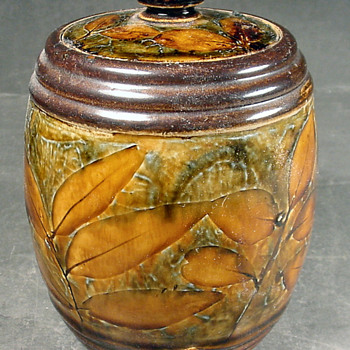 Doulton Natural Foliage tobacco jar