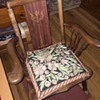 Found this small (nursing?) rocking chair at a thrift store - beautiful inlay. Chair has been stripped of previous finish.
