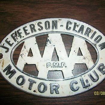 AAA Motor Club Car Badge - Classic Cars