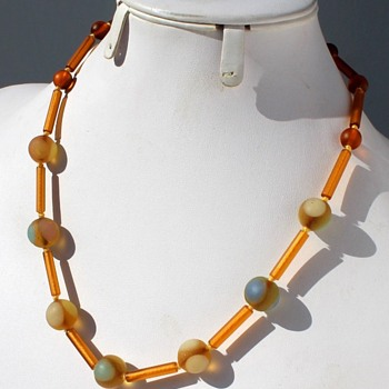 WMF Myra glass bead necklaces. - Art Glass