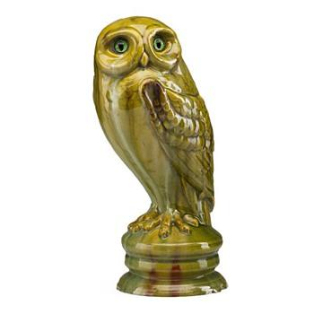 Emile Galle Owl, 1889 Exposition Universelle  - Art Nouveau