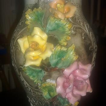 Capo Di Monte Style Vase - Pottery