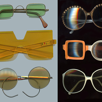 Six vintage 60s-early 70s Hippie / MOD Sunglasses - Accessories
