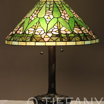 Tiffany Style Arrow Root Lamp - Lamps