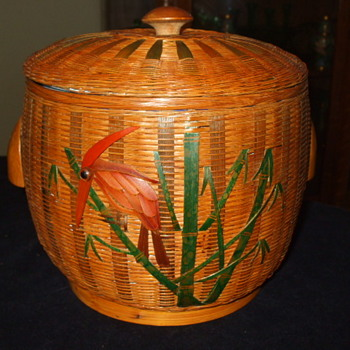 GRANITE WARE With A Flair  Decorated  Basket-Work Ice Bucket - Kitchen
