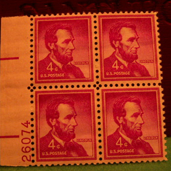 1958 Lincoln 4¢  Stamps - Stamps