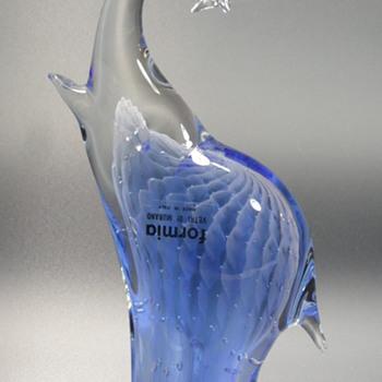 Formia Vetri Di Murano - Blue Elephant - Bullicante  - Art Glass