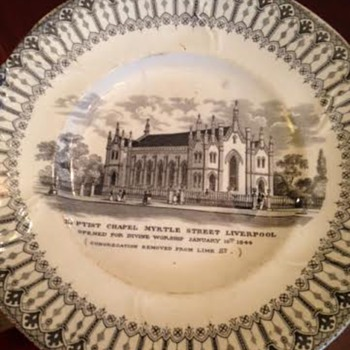 Baptist Chapel in Liverpool Plate - China and Dinnerware