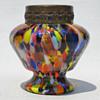 Czechoslovakia spatter posy vase