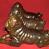Three Bronze Pugs