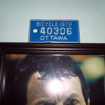 Ottawa bicycle plate