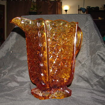 EAPG Adams & Co #86 amber pitcher - Glassware