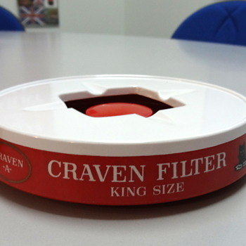 A very nice Craven Filters ashtray. - Tobacciana