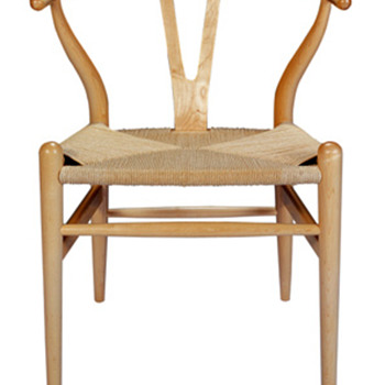 Wegner Style Mid Century Eames Era with Rope Chair