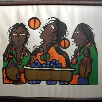 Saul Williams silkscreen The Berry Pickers. Red Lake Ontario  - Fine Art