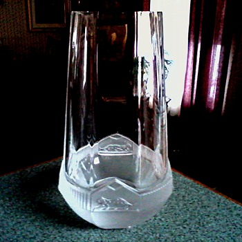 "Massive Art Deco ""Panthères De Cartier"" Vase /Made by Royal Brierley England /Signed ""Cartier"" Unknown Age - Art Glass"