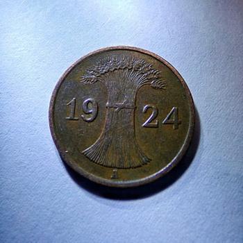 1924 Reichspfennig  - World Coins