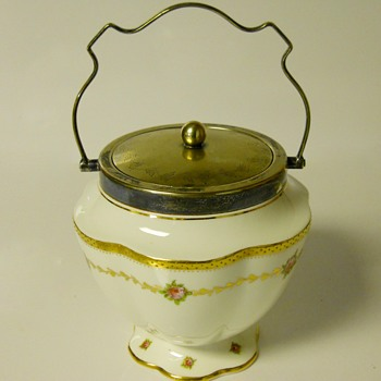 "Post 1 of 5-Biscuit Jar ""George Jones"" Art Nouveau(George Jones and Sons, Crescent China) Pre 1921 - Pottery"