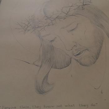 ARTIST   A.E. MUMPER ,  1940- Graphite Drawing/Sketch - Fine Art