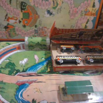 Vintage toy train set.