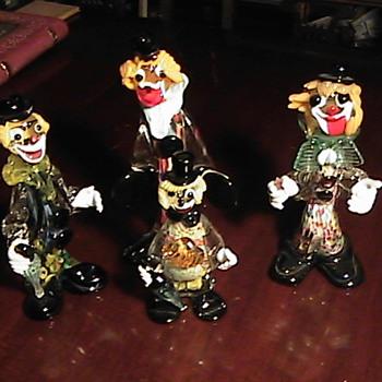 Collection of Murano Art Glass Clowns - Art Glass
