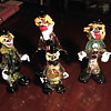 Collection of Murano Art Glass Clowns