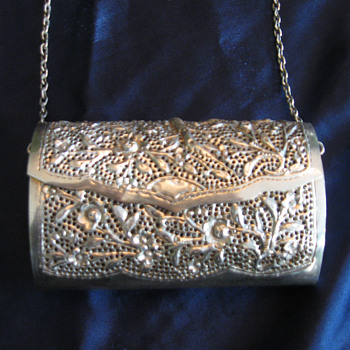 Silver purse with chain - Bags