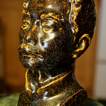 Thickly glazed Pottery Bust of a Man - Pottery