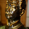 Thickly glazed Pottery Bust of a Man
