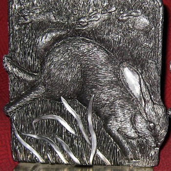 Metzke Designs Pewter Rabbit Bookends - Books