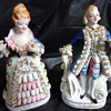 My Lovely Nippon or Noritake French Couple Porcelain Figurines Can Any One can HElP date mark? Thanks! Thrift Find!