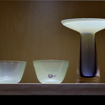 Small bowls - Gunnar Nylund for Strombergshyttan 1950s - 60s. - Art Glass