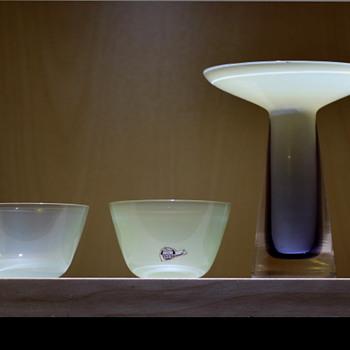 Small bowls - Gunnar Nylund for Strombergshyttan 1950s - 60s. - Art Glass