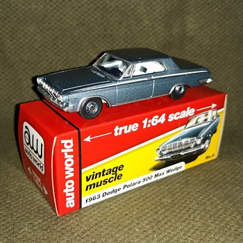Auto World true 1:64 scale Vintage Muscle 1963 Dodge Polara Max Wedge - Model Cars