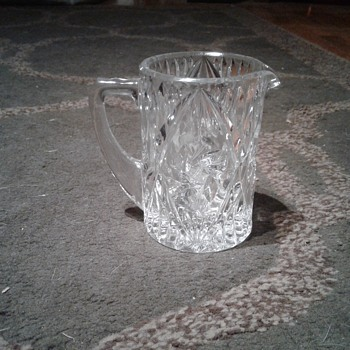 Small Crystal creamer. - Art Glass