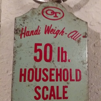Handi Weigh-All 50 lb. Household Scale from Aunt Lillian's pantry - Tools and Hardware