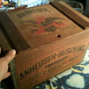 anheuser-busch wooden beer crate