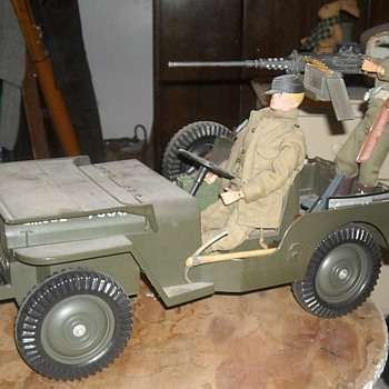 GI Joe 5 Star Jeep with Cotswold resin .50 Machine Gun - Toys