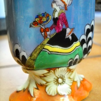 Noritake Lusterware Hand Painted Lady Card Holder